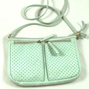 10x7 Jersey Aqua side crossbody bag